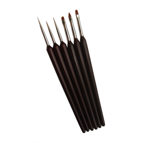 Basic Nail Art Brush Set brown