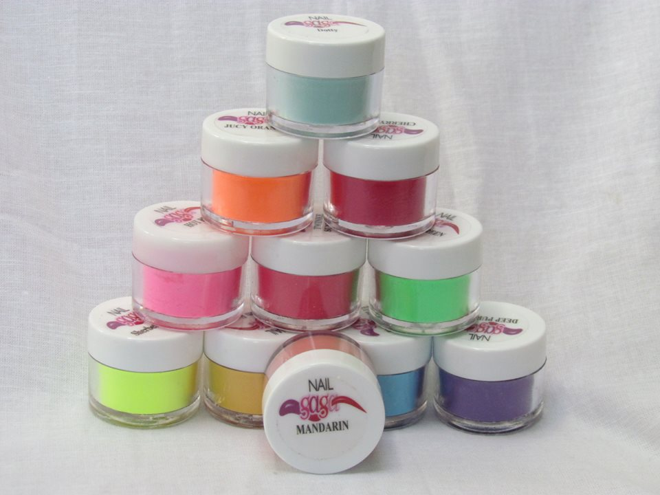 5 Coloured Acrylic Powders