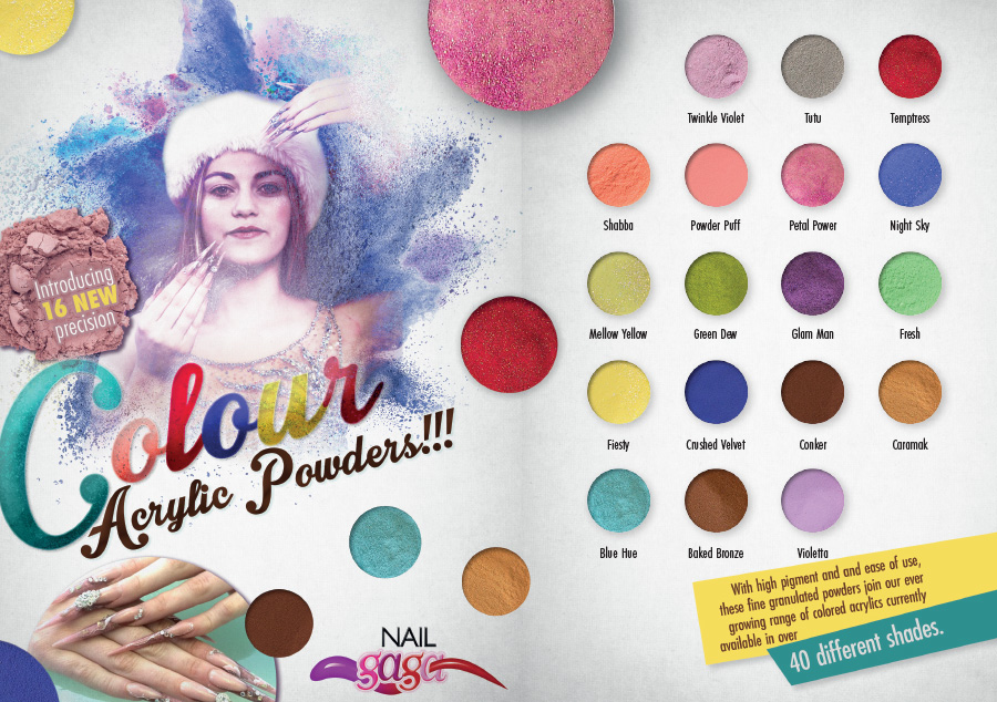 Coloured Acrylic Powders