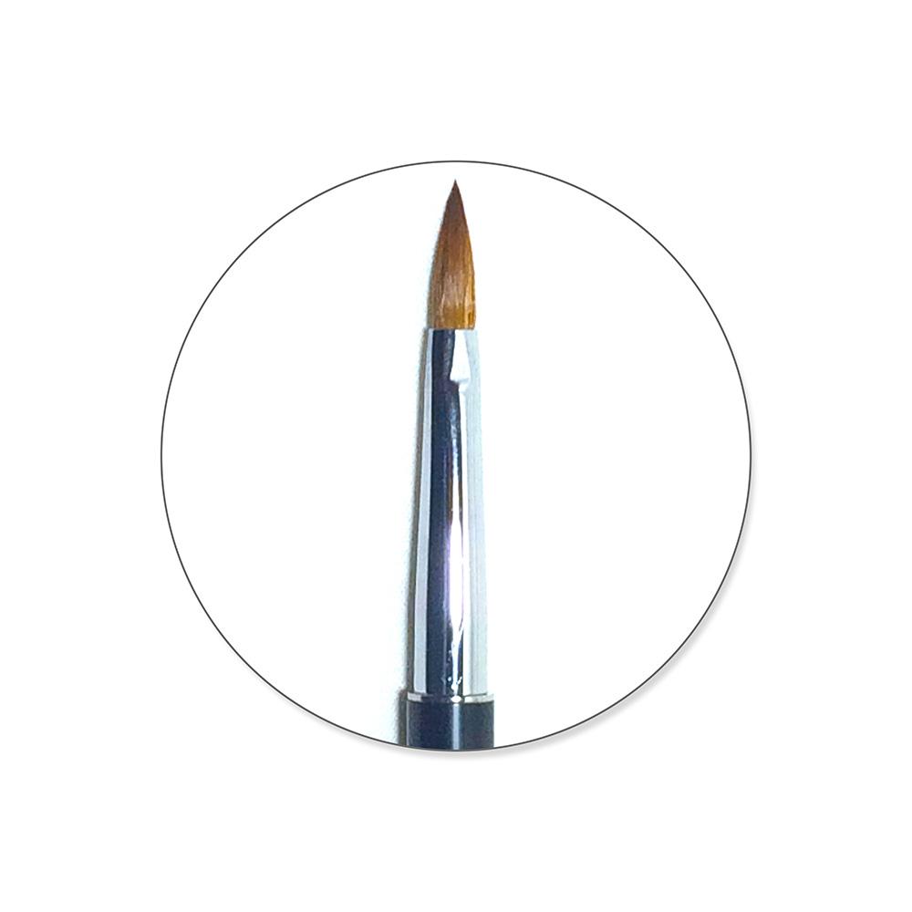 Designer Acrylic Brush Black size 8