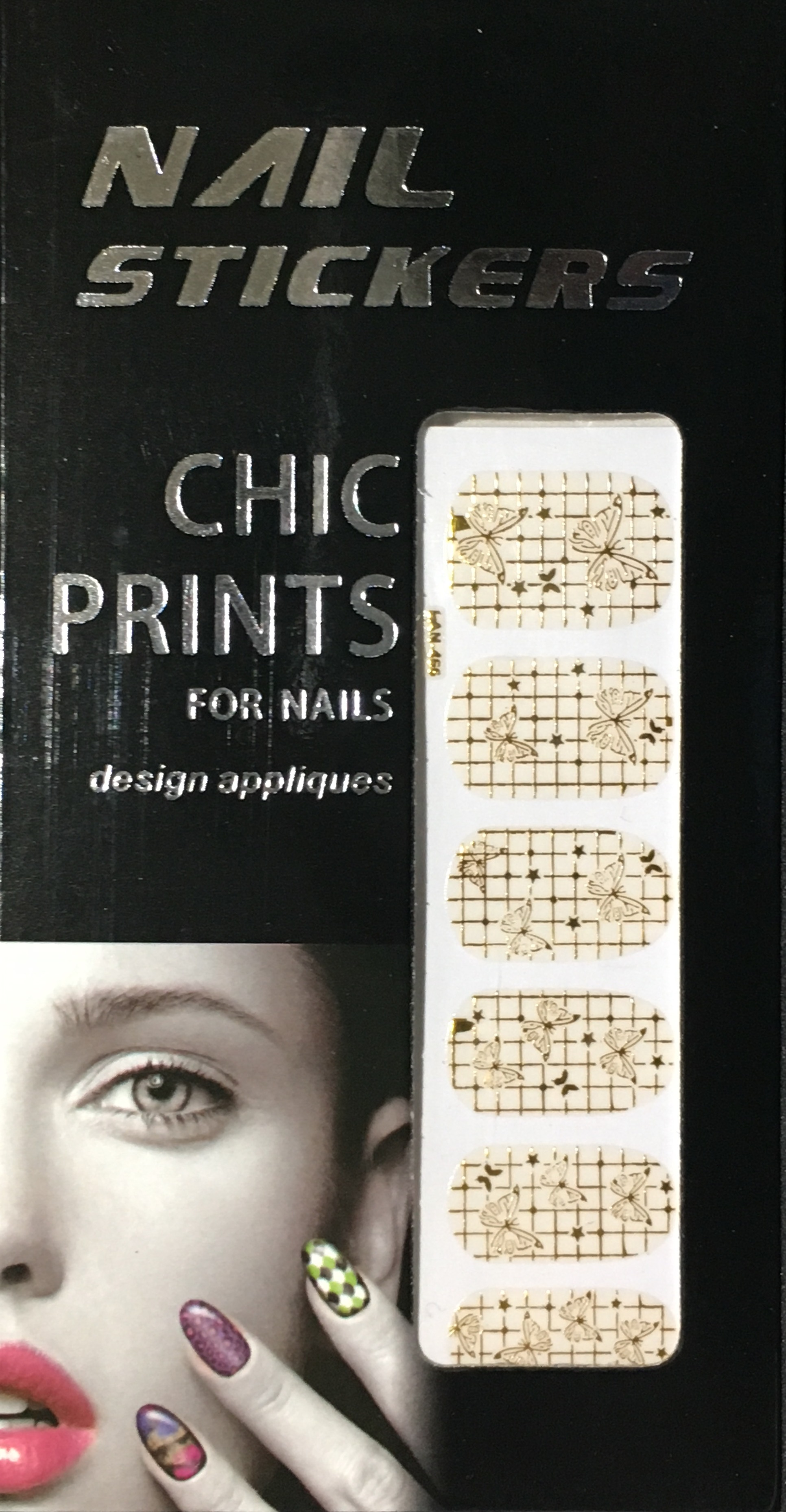 Chic print 3D Nail Sticker 05