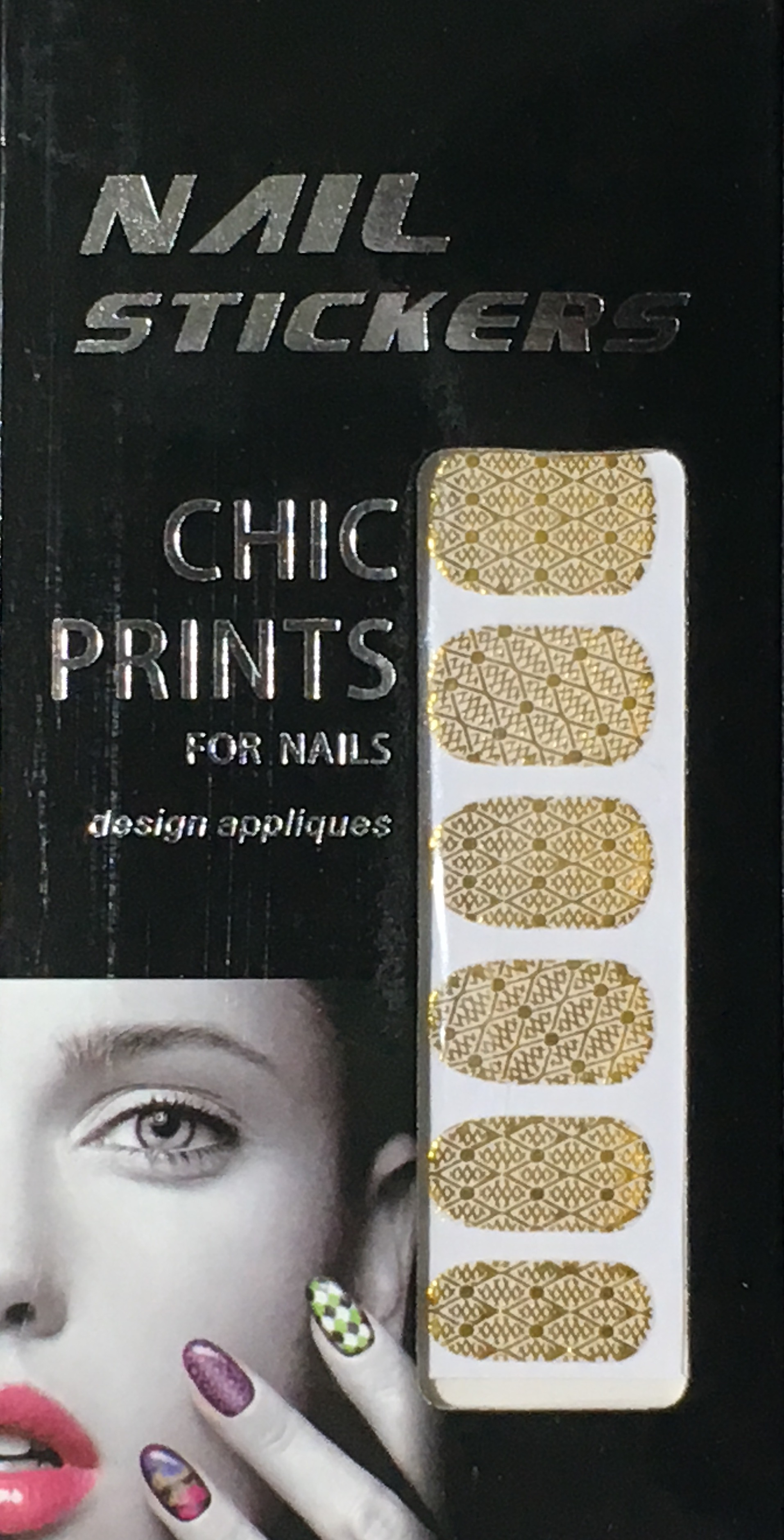 Chic print 3D Nail Sticker 07