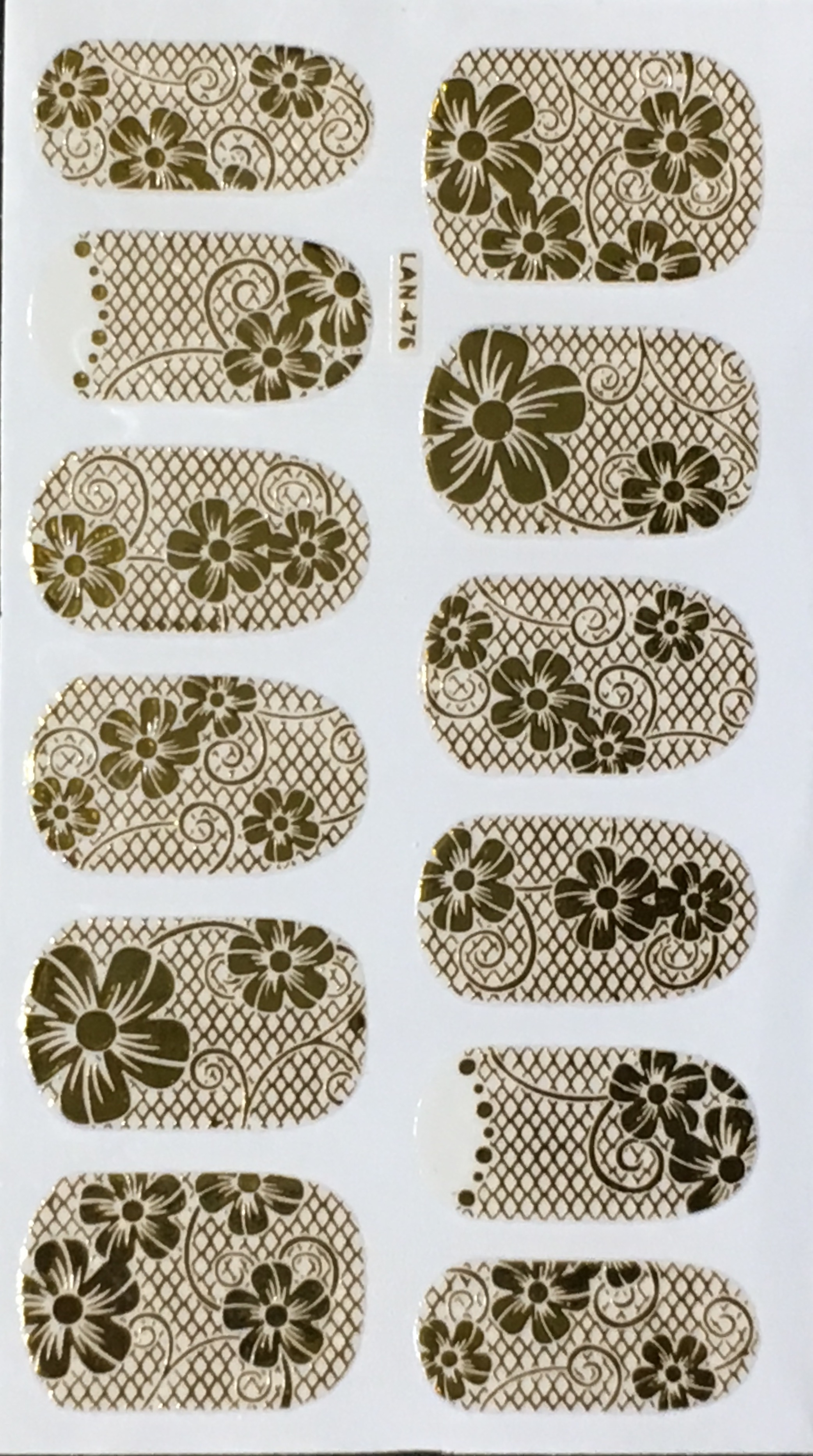 Chic print 3D Nail Sticker 08