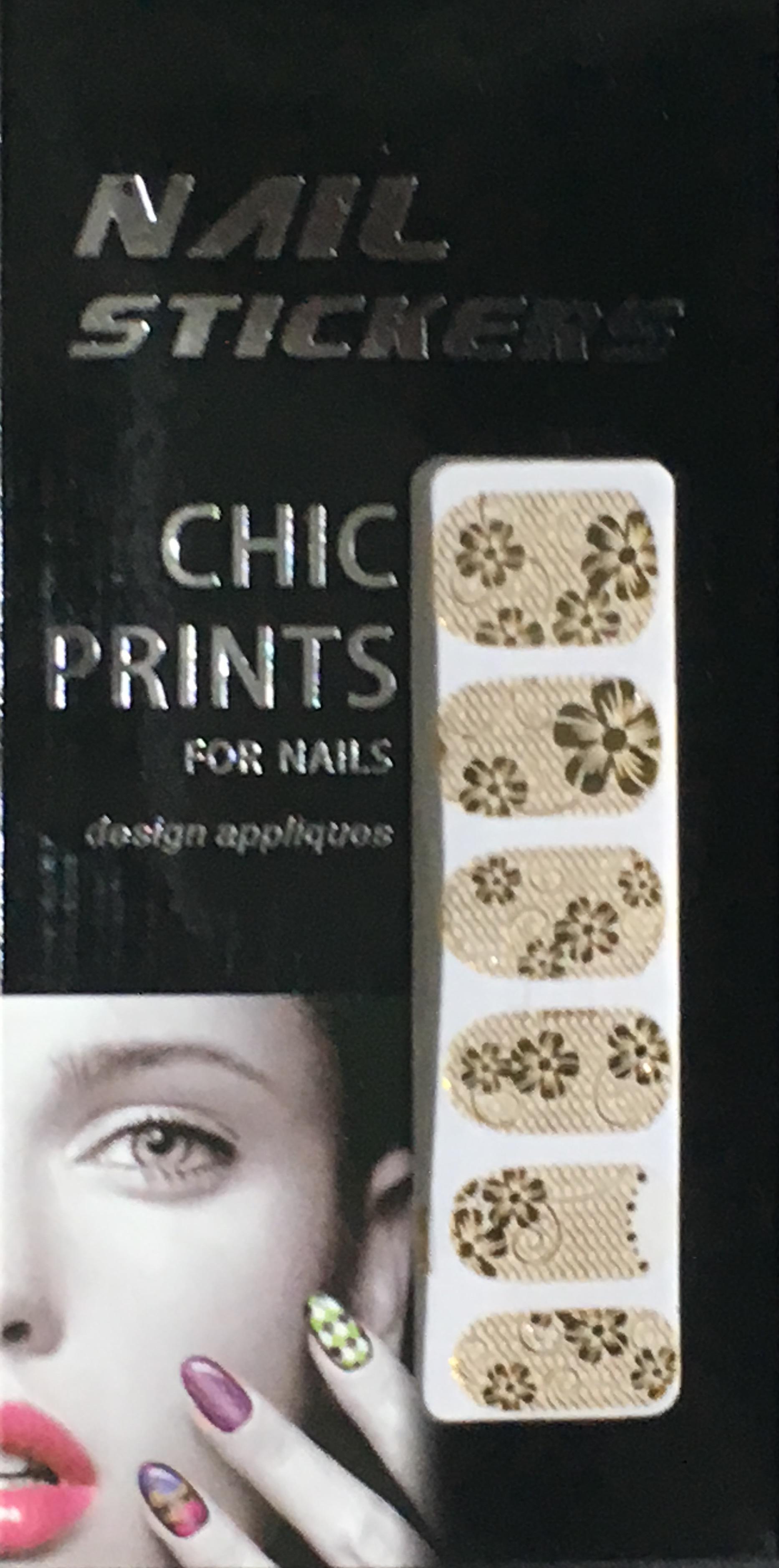 Chic print 3D Nail Sticker 08