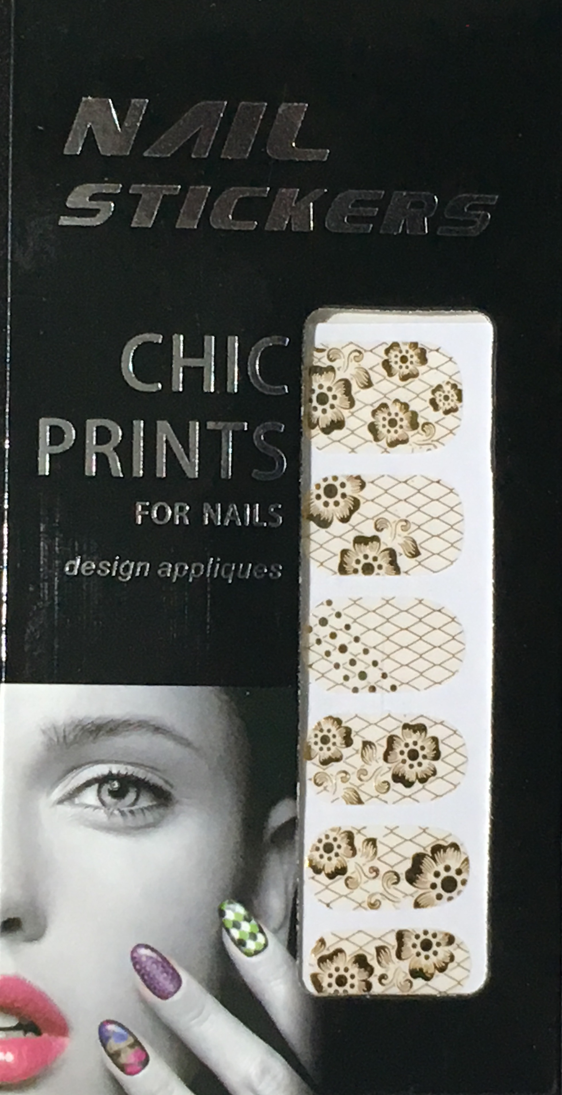 Chic print 3D Nail Sticker 09