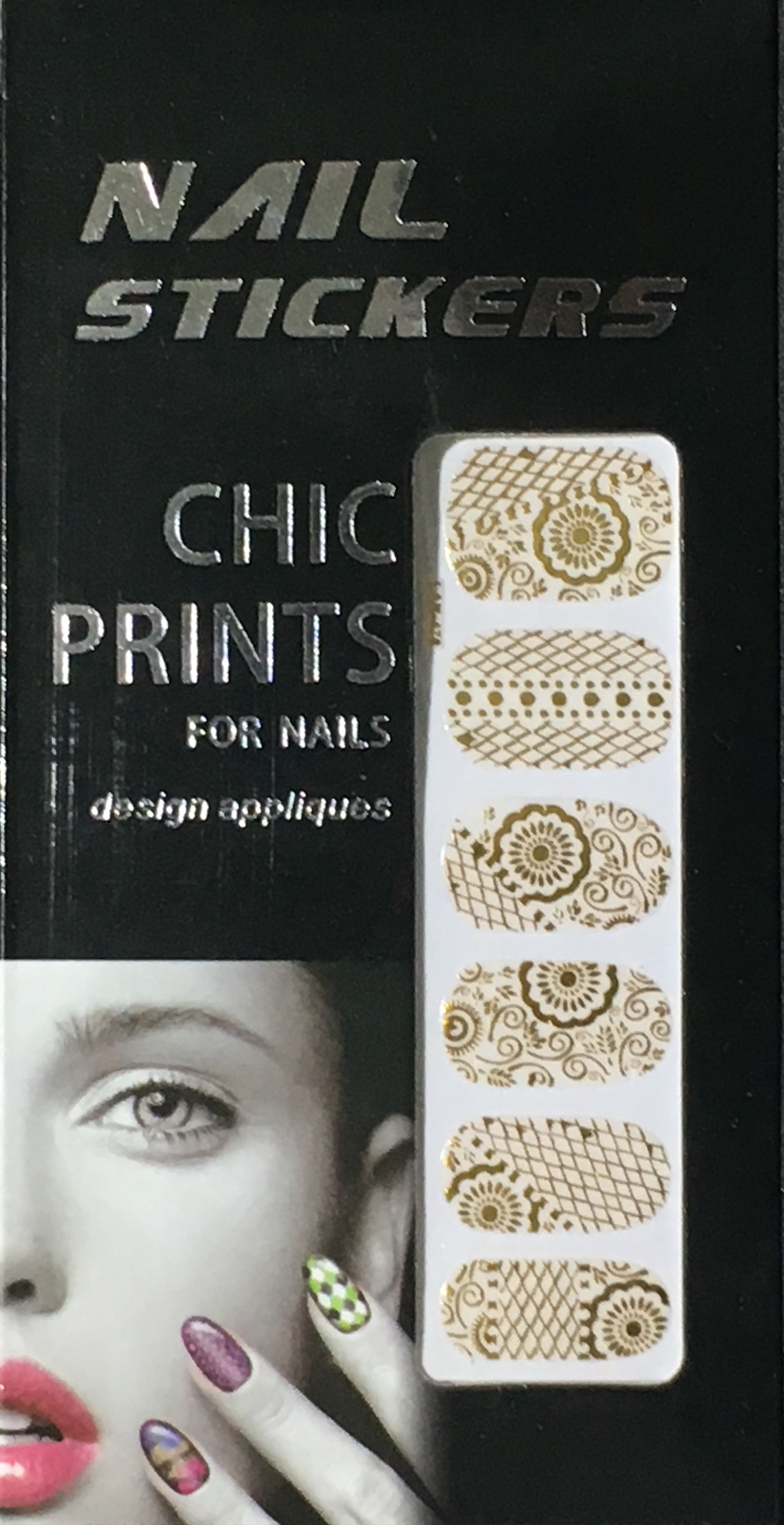 Chic print 3D Nail Sticker 10