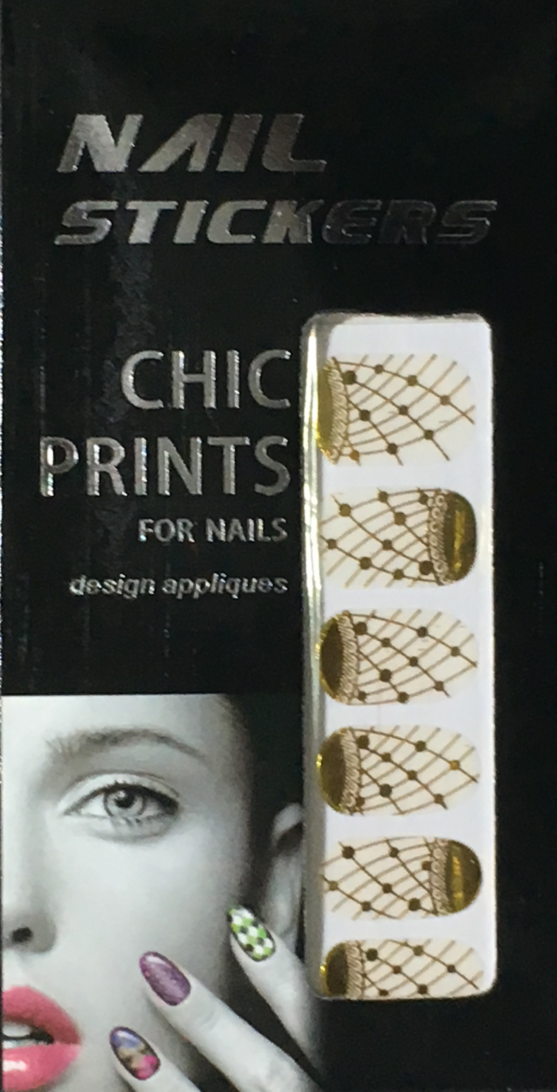 Chic print 3D Nail Sticker 11