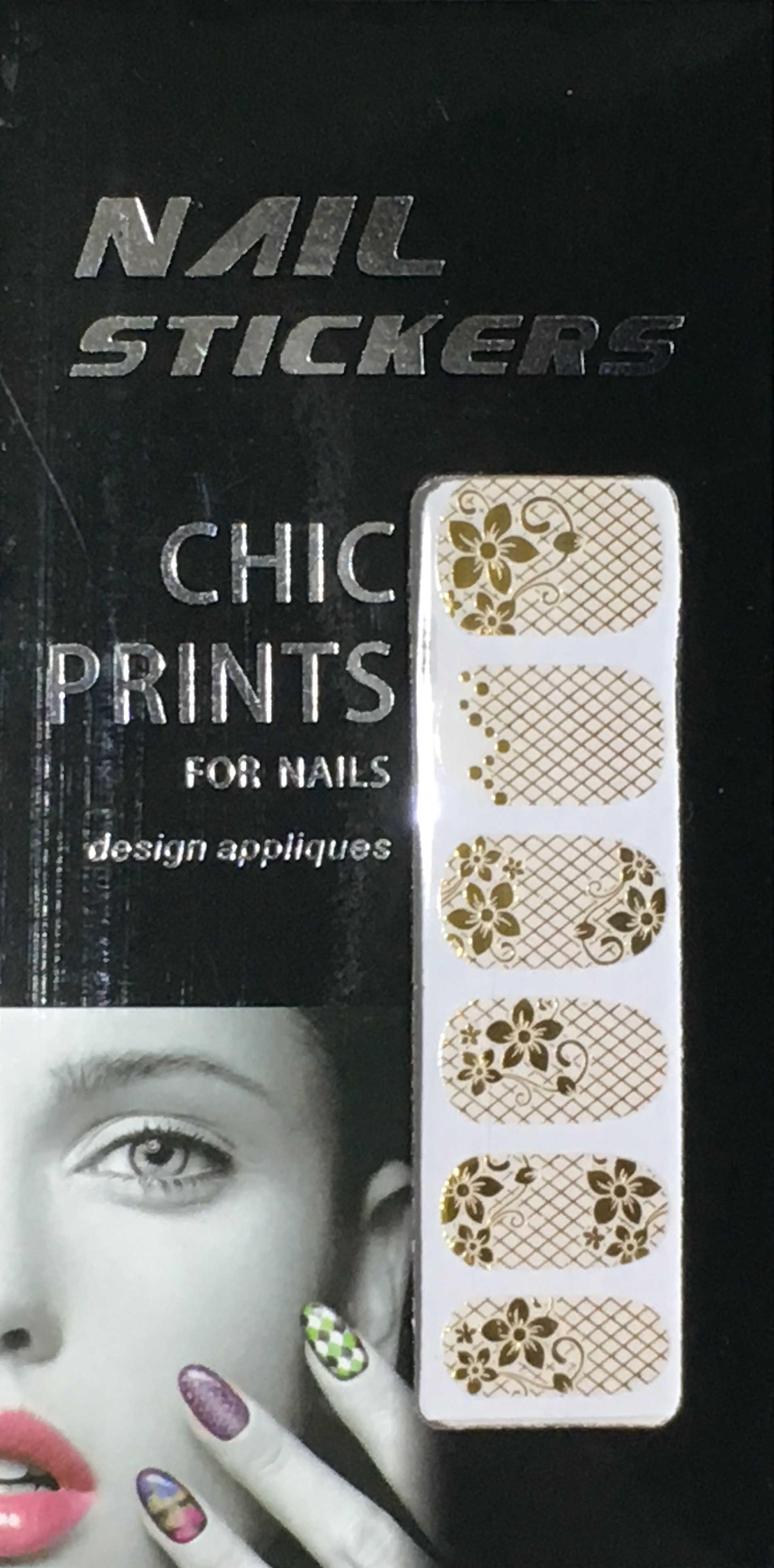 Chic print 3D Nail Sticker 12