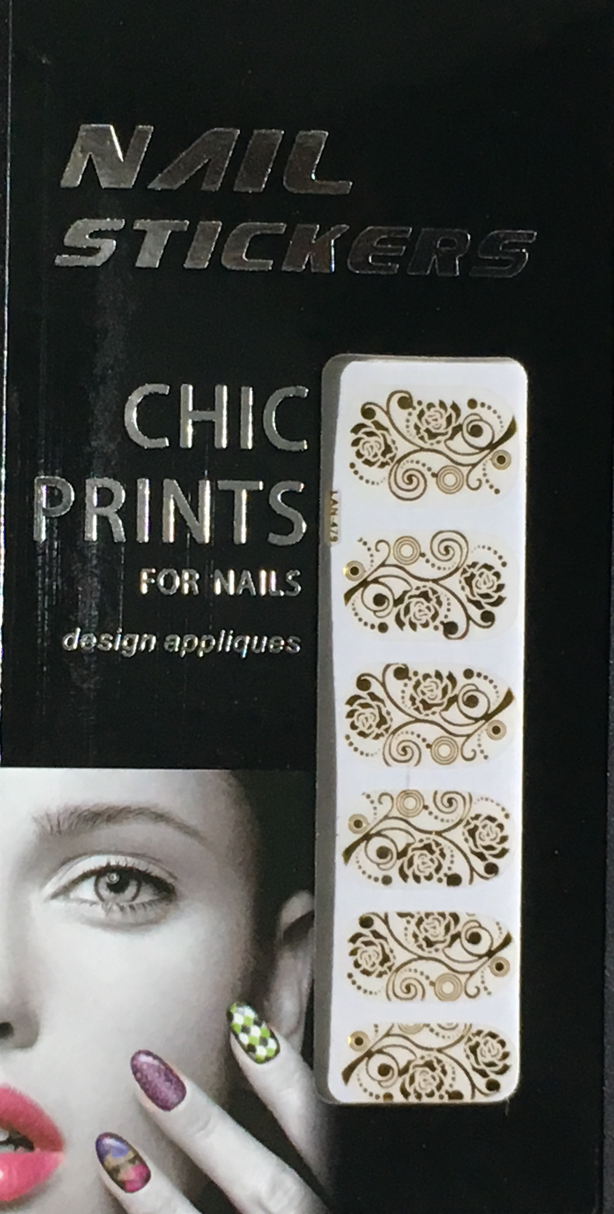 Chic print 3D Nail Sticker 14